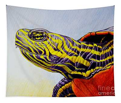 Western Painted Turtle Tapestry