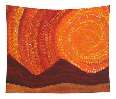 Western Sky Wave Original Painting Tapestry