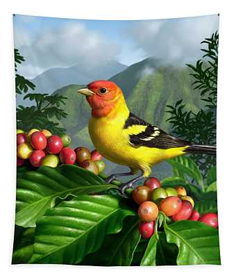 Western Tanager Tapestry