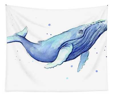 Whale Watercolor Humpback Tapestry