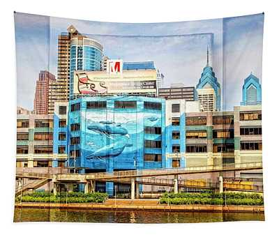 Whales In The City Tapestry