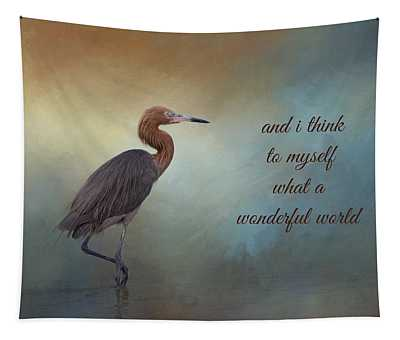 What A Wonderful World Tapestry