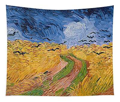 Wheatfield With Crows Tapestry