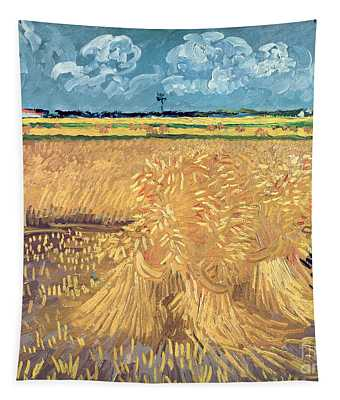 Wheatfield With Sheaves Tapestry