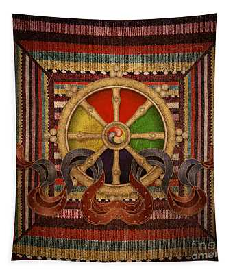 Wheel Of The Dharma Tapestry
