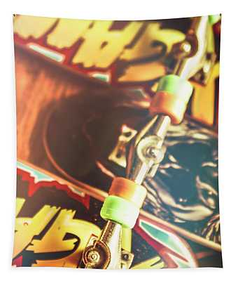 Wheels Trucks And Skate Decks Tapestry