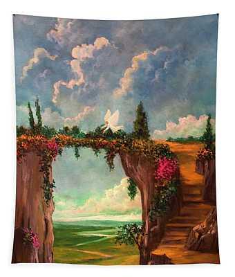 When Angels Garden In Heaven Tapestry