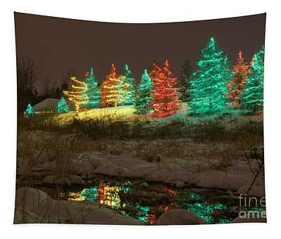 Whimsical Christmas Lights Tapestry