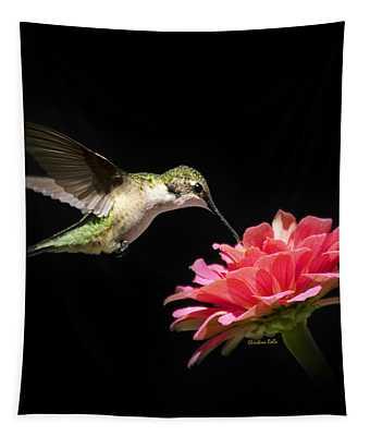 Whispering Hummingbird Square Tapestry