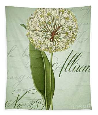 White Allium I Tapestry