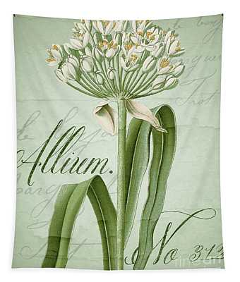White Allium II Tapestry