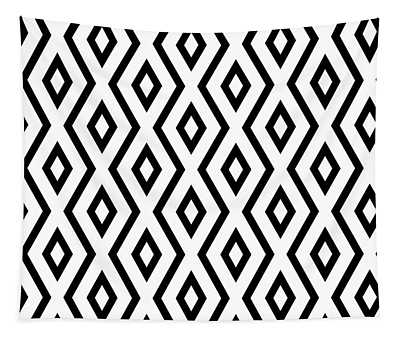 White And Black Pattern Tapestry