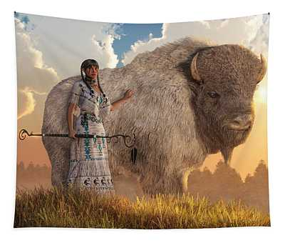 White Buffalo Calf Woman Tapestry