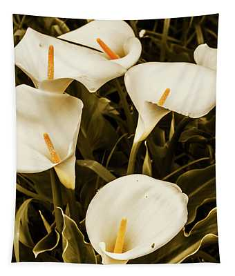 White Calla Lilies Tapestry