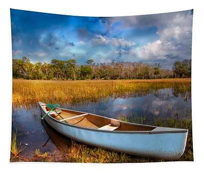 White Canoe Tapestry