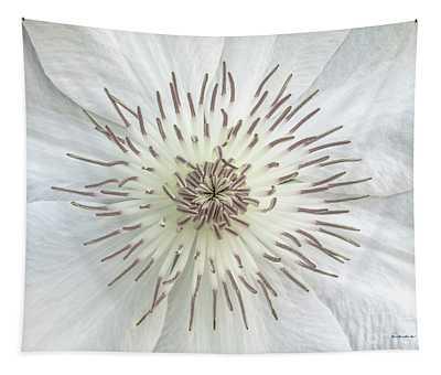 White Clematis Flower Garden 50121b Tapestry