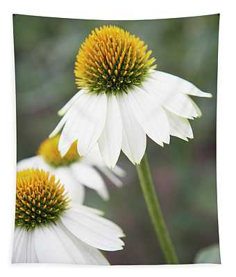 White Coneflower Tapestry