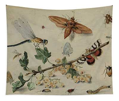 White Currants And Insects Tapestry