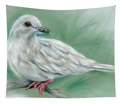 White Dove In The Pine Tapestry