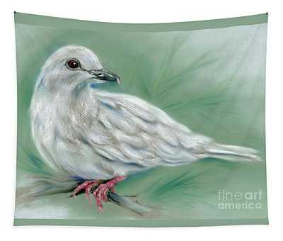 White Dove In The Pine Tapestry