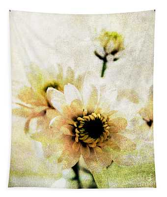 White Flowers Tapestry