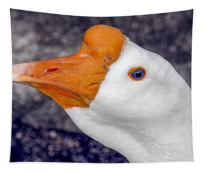 White Goose Portrait Tapestry