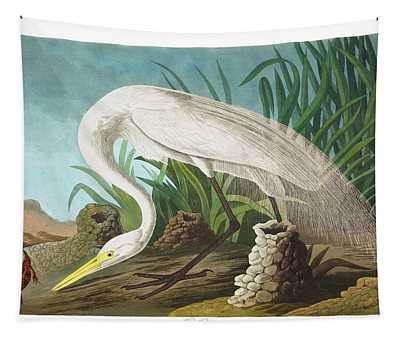 White Heron Tapestry