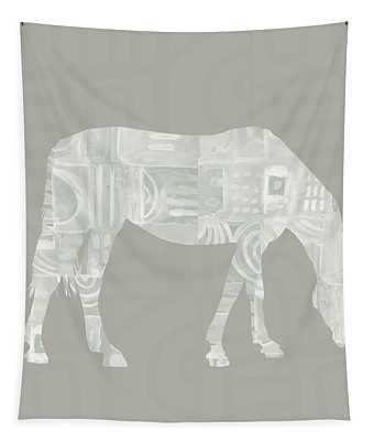 White Horse 2- Art By Linda Woods Tapestry