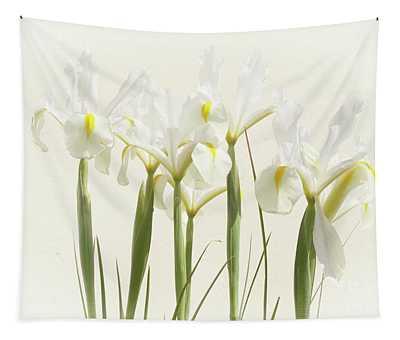 White Iris Tapestry