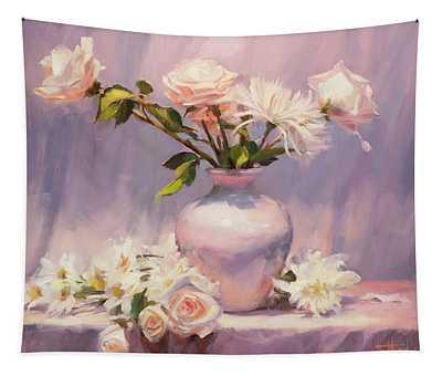 White On White Tapestry