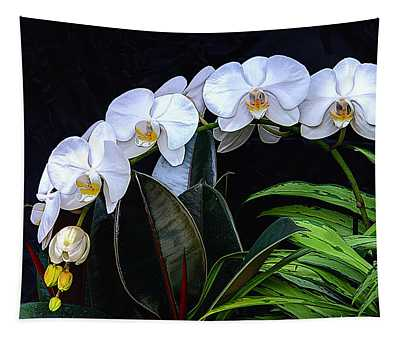 White Orchids Tapestry