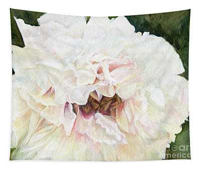 White Peony Tapestry
