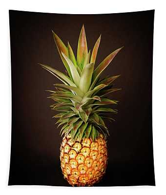 White Pineapple King Tapestry