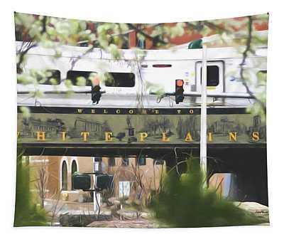 White Plains Train Station Tapestry