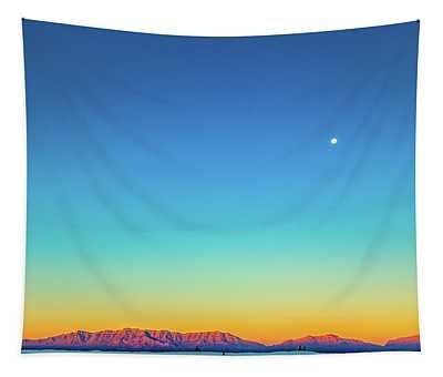 White Sands Sunrise Tapestry