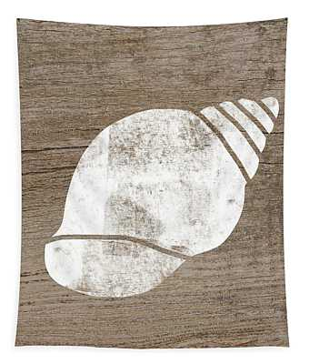White Seashell- Art By Linda Woods Tapestry
