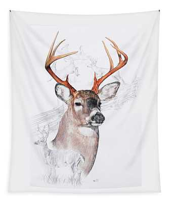 White-tailed Deer Tapestry