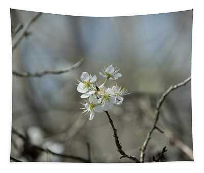 White Tree Bud Tapestry