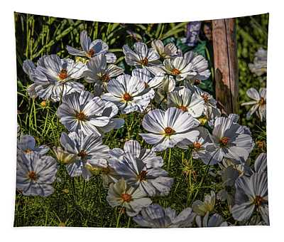 White, White, White #h8 Tapestry