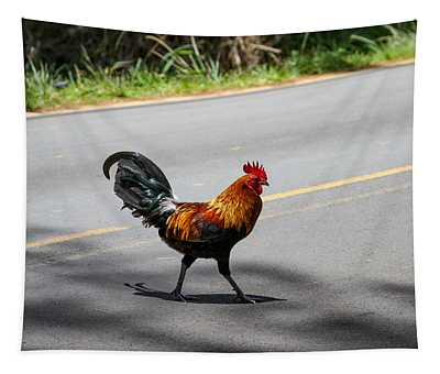 Why Did The Rooster Cross The Road Tapestry