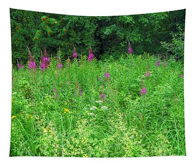Wild Flowers And Shrubs In Vogelsberg Tapestry