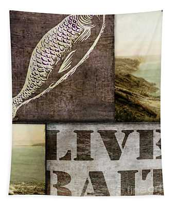 Wild Game Live Bait Fishing Tapestry