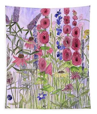 Wild Garden Flowers Tapestry