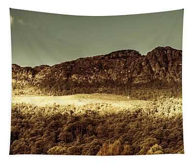 Wild West Mountain Panorama Tapestry
