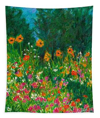 Wildflower Rush Tapestry