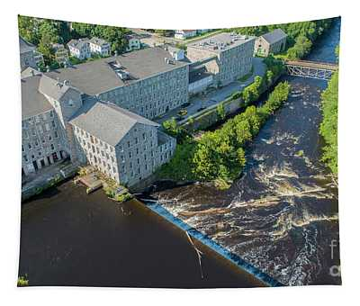 Willimantic River And Mill #2 Tapestry