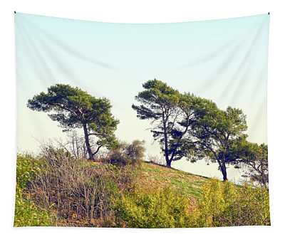 Wind Blown Trees Tapestry