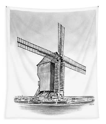 Windmill At Valmy Tapestry