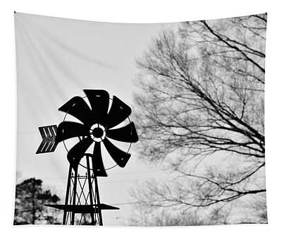 Windmill On The Farm Tapestry