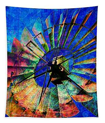 Windmill Power Tapestry